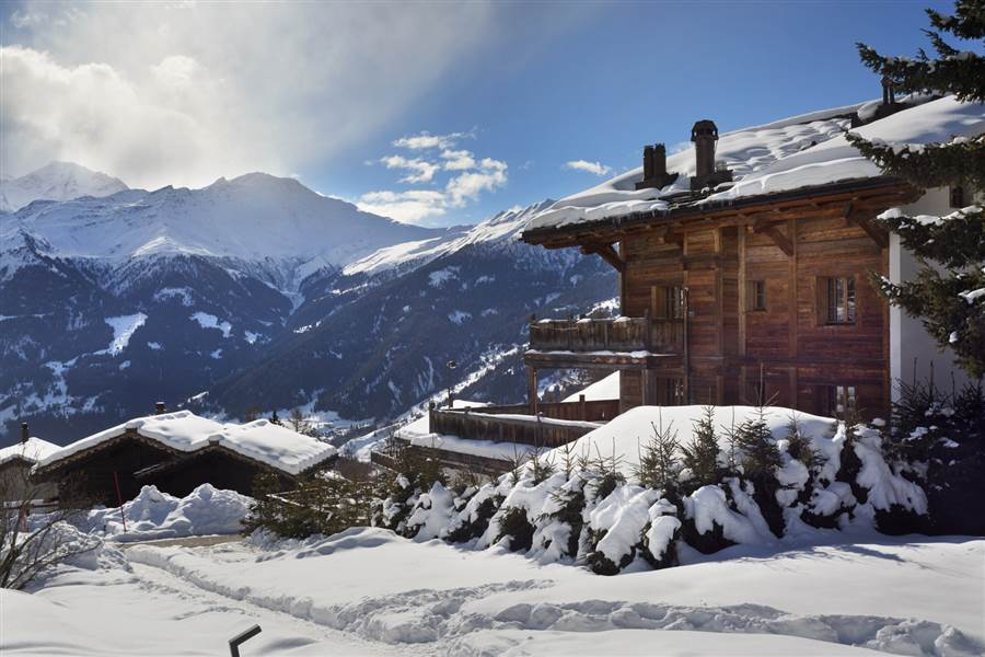 Truffe Blanche - View from Chalet